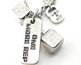 Necklace Power Dumbbell Workout & Motivation Bodybuilding Jewellry,Fitness Gift,Sport jewelry,WeightLifting,Crossfit Gift,Gym Gifts,Sport