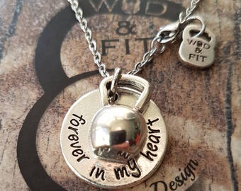 Necklace Forever in my Heart & il tuo peso preferito,Fitmom FitGirl,Fitness Jewelry,Gym Gift,Coach gift,Regalo Fitness,Fitness,Crossfit girl