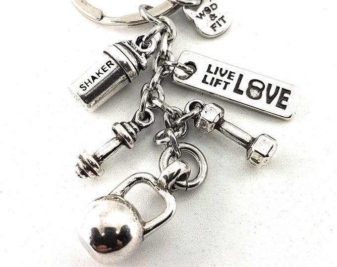 Featured listing image: Keychain Kettlebell Shaker Workout Gift Dumbbell,Barbell & Motivation - Bodybuilding Gift - Protein Bottle -Gym Gift -Crossfit Jewels -Sport