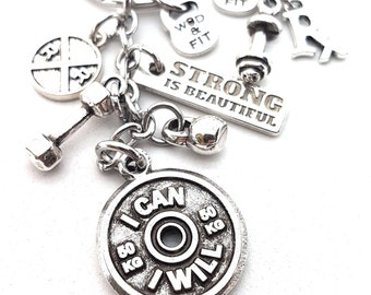 I CAN - I WILL Workout Gift - Team Gift - Motivation Gift  - Gym gifts - Gym gifts for her - Weight lifting - Trainer gift  i can- Wod & Fit