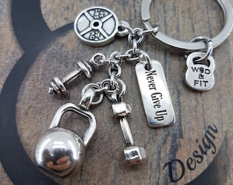 Keychain Kettlebell Jazzy Jeff Workout Motivational Gift,Dumbbell,Weight Plate Fitness,Bodybuilding,Gym Gifts,Exercise Gift,Crosstraining