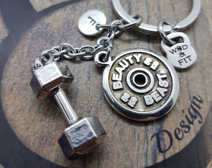 Dumbbell Keychain Feek FitPlate Workout Bodybuilding,Jewelry Fitness,Kettlebell,Gym Gift,Weightlifting,Cross Fit Gift,Coach Gift,Wod & Fit