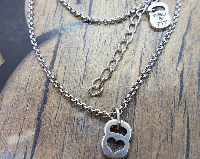 Chain Choker Fitness Girl  Weight.Necklace,Fitness Jewels,Bodybuilding Gift,Fitmom,FitGirl,Crossfiters,Woman Gift,Weightlifter,Strong Woman