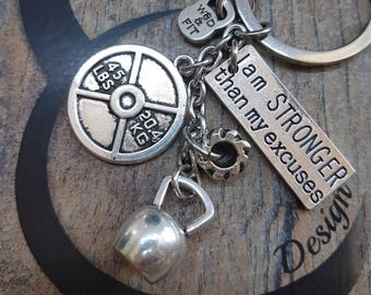 Keychain Weight Tire Flip Motivational Workout Jewelry,Fitness,Kettlebel,Gym,Coach gift,Fit mom Gift,inspiration jewelry,barbell jewelry,Wod