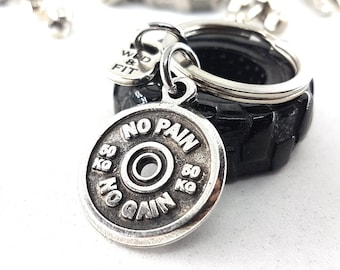Keychain Motivational Weigth Plate,Bodybuilding,Fitness Jewelry,Gym,CrossFit Gift,Weightlifting,Coach Gift,Bodybuilder gift,Wod & Fit Jewels