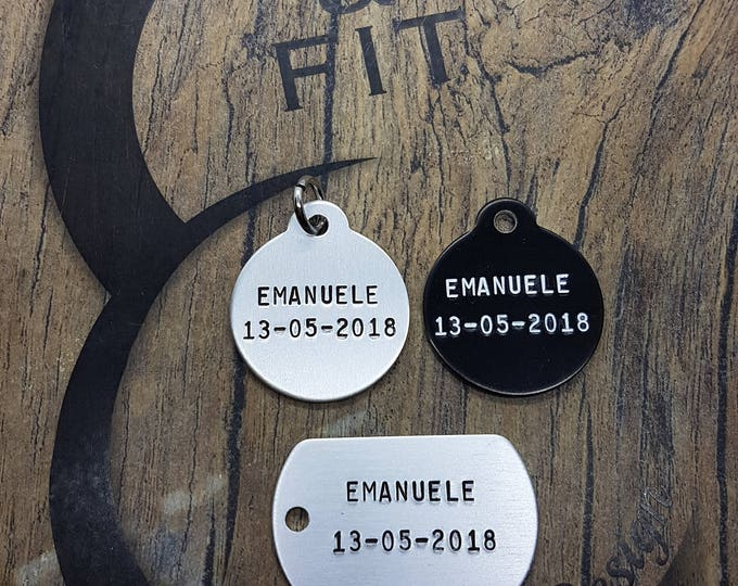 Aluminum Custom Tag with your personal Message.Your Message,Regalo Coach,My Valentine,Sport Gift,Motivational Gift,Unique Gift,Fitness,Sport