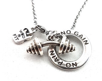 Bent Barbell Necklace Ring Dip Motivation Workout,Sport,Fitness Jewelry Bodybuilding Jewelry,Weight Lifting,FitMom,Fit Girl,Cross Fit Gift