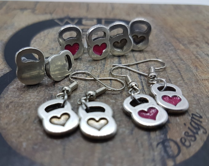 Earrings Kettlebell Heart Workout Motivation Gym,Bodybuilding,Fitness Gift,Fitmom,Crossfit Girl,Fitness Jewelry,Gym Gift,Motivational Gift