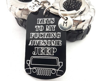 Keychain Keys To My Fucking AWESOME Jeep Gift - Jeep Wrangler Accessories -Jeep - Jeep Gifts For Her - Jeep Wrangler - Jeep Gift Keychain