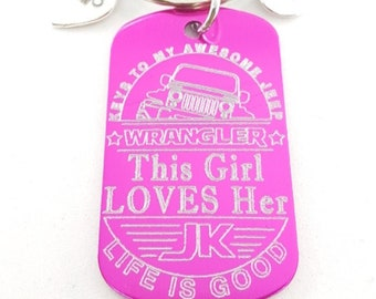 Offroad 4x4 Custom Rectangular Tag 50x30 Keychain Customized 4x4 Gift - Offroad Gift- Gifts For Her -Wrangler - Willys - JK - JKU - Rubicon