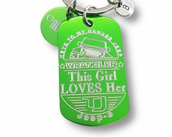 Jeep Custom Keychain- Jeep Girl Gift - Jeep Gift - Gifts For Her -Wrangler - Willys - JK - JKU -Jeep wrangler accessories - Jeep keychain -
