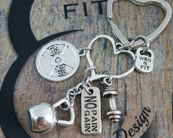 Keychain Cindy Workout Kettlebell,Gym,Fitness Jewelry,Coach Gift,Barbell,FitGirl,Fit mom Gift,Crosstraining,Bodybuilding Jewelry,Best Mom