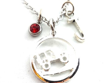 Collar Offroad Birthday Stone y Inicial Jeep Lover OIIIIIIO - 4x4 Accessorios- Jeepsy girl regalo - Love Offroad - 4x4- Wrangler - Rubicon