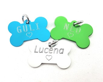 Aluminum Bone Big 51X36mm with your personal Message/Draw/Logo.Engraved NO LASER -Regalo Coach - Identification -Dog -Bone Tags -Bone Dog