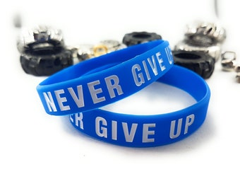 Silicon Bracelet Wristband Never Give Up - No Pain No Gain - Bodybuilding,Fitness -Motivation Gym - Fitness - Crossfit- Bracelet Motivation