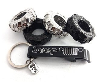 Abrebotellas 4x4 Beer en Aluminio Parrilla, Cerveza 4x4- Offroad Accessorios -Wrangler - Rubicon - Regalo 4x4 Love - Todoterreno -4x4 lovers