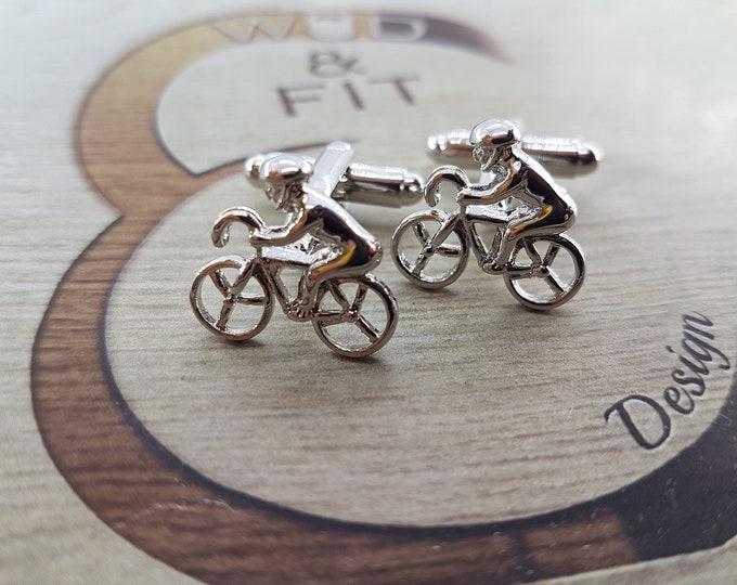 Cyclist Biker Cufflinks.Coach Gift,Motivational,Dad Gift,Father Gift,Fitness,Sport Cufflink,gift idea,gift groom,Gift marriage Dad Gift