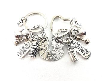 Custom Couple Keychain I Love My LifeYou & Me Always Together,Saker Protein,Kettlebell,Weightlifting,Bodybuilding,Gym Gift,Crossfit,Custom