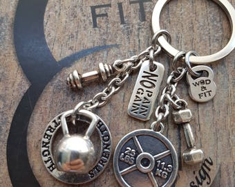 Keychain Annie Workout 25lbs Kettlebell Motivation,Fitness Jewelry,Gym Gift,Dumbbell,Weight Plate,Coach Gift,Training,Crosstraining,Sport