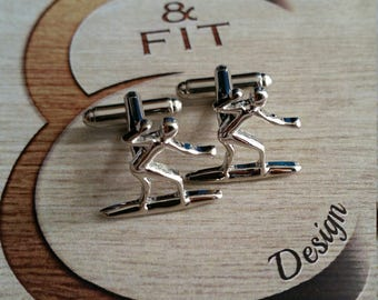 Surfer Cufflinks.Surf Coach Gift,Motivational,Dad Gift,Father Gift,Sport Cufflink,gift idea,gift groom,Gift marriage Surf Gift Father's day