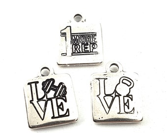 Custom Charm 15x15 Silver Plated.Charms Pendent - Personalized gift - Personalized jewels  -Custom tag Gift -Custom Tag- Your Text - Sport