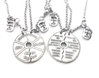 Couple Necklaces Weight I Love My Life Plate 45lbs Always Together.Train Together/Stay Together.Weightlifter,Fitness,Bodybuilding,Gym,Crossf