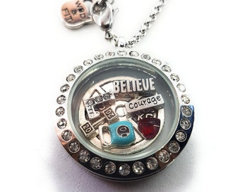 Beast Girl -Customize your Necklance Living Locket with your story.Fitness jewelry -Sport Floating Charms-Locket-Floating Locket Motivation