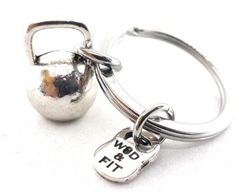 Kettlebell Keychain Big Kettlebell.Fitness Jewelery,Motivation,Bodybuilding Gift,Gym Gifts,Wod and fit,Motivational Gift,Coach Gift,Sport