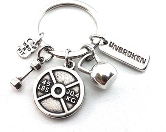 Keychain Weight LumberJack Workout,Fitness,Bodybuilding Jewels,Gym Coach Gift,Kettlebell,Dumbbell,weight lifting,Gym jewelry,Crossfit Gift
