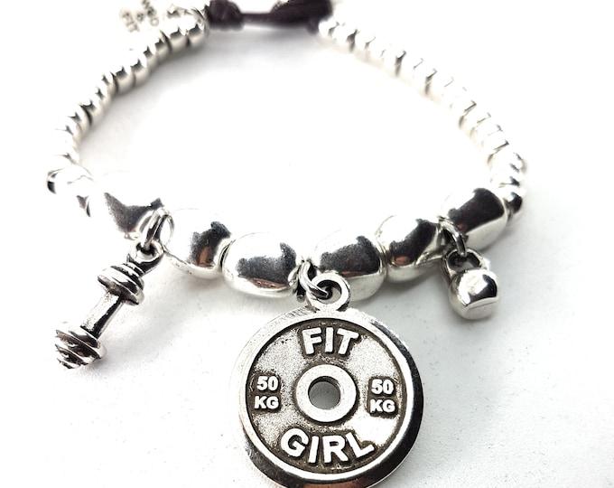 Bracelet Grace Atlas Stone Workout FitPlate.Fitness Jewels & Motivation,Bodybuilding Gift,Gym,Fit Mom,Fitness Girl,Workout Jewelry,Fit Girl