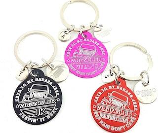 Offroad 4x4 Custom Circular Keychain Customized 4x4 Gift - Wrangler Gift - Rubicon Gifts For Her - Willys - JK - JKU - Jeep Girl - Custom