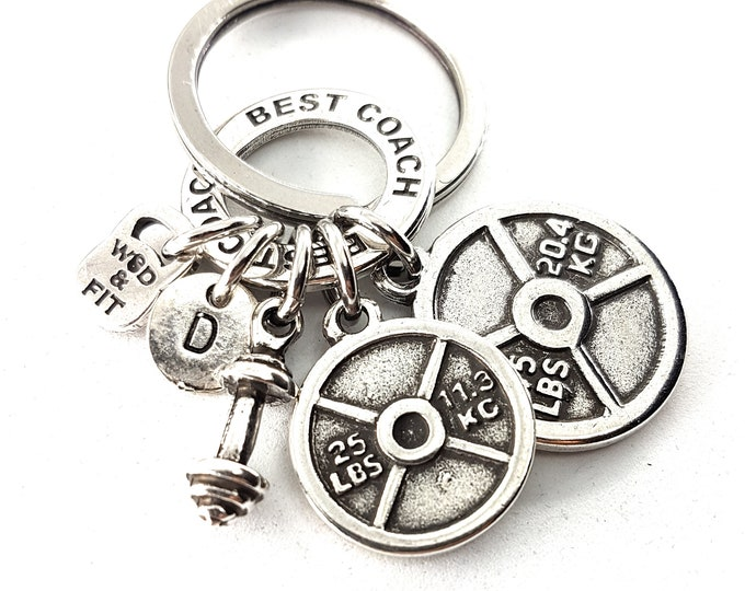 Weight Plates Keychain Daniel Workout Barbell,Motivation Ring & Initial. Weight lifting,Gym,Bodybuilding Jewels,Fitness Gift,Cross Fit Gift