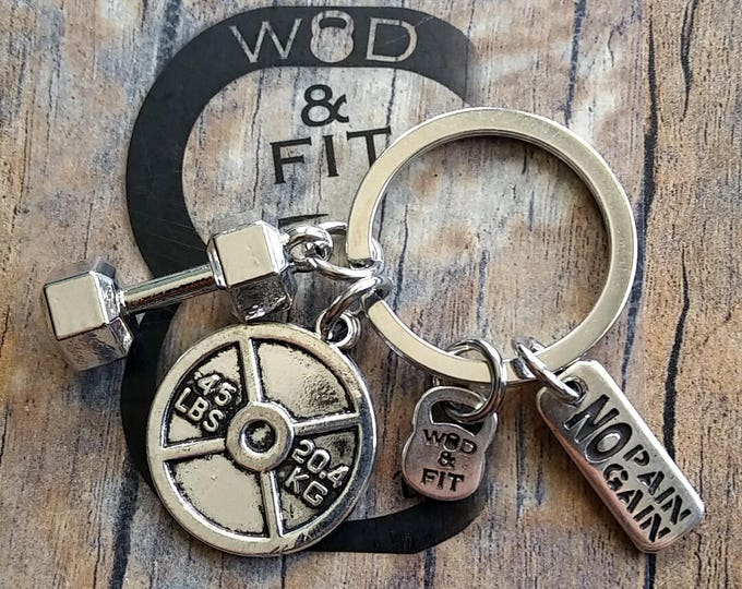 Dumbbell Keychain Dan Workout Kettlebell,Fitness,Bodybuilding,Gym,Personalized Keyring,inspirational,Motivation,coach gift wod gift