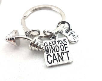 Keychain Eric Workout Barbell & Motivation,Gym Gift,Fitness Jewelry,Bodybuilding,Sport Gifts,Workout Gift,Crosstraining,Coach Gifts,Crossfit