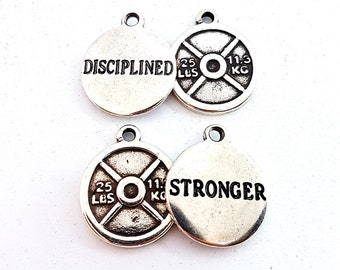 Custom Weight Plated 25lbs Motivational Weight,JoyasBodybuilding,Fitness Jewelry,Gym,CrossFit Gift,Weightlifting,Coach Gift,Personal Trainer