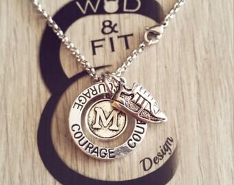 Necklace Running Motivation Workout, Runner, Motivation Circle,Initial.Fitness,Runner Girl,marathon,Fitmom, Fit Girl, Gift for Runner, Sport