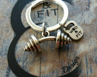 Bent Barbell Keyring Workout,Gym jewelry,Weight lifting,Bodybuilding,Fitness Keychain,Coach gift,Motivational gift,Fit girl,Coach Gift,Sport