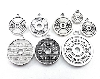 FitPlate Pendent 45lbs - 25lbs - Lift Heavy - Squat Shut Up- Weightlifting - Powerlifter - Fitness - Gym Gift - CrossFit Gift - Bodybuilder