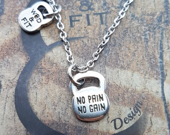 Necklace Motivational Kettlebell Workout.Fitness Gifts,Bodybuilding,Gym Gif,Fitness Motivation,Gift for her,Exercise gift,Girl fitness,Sport