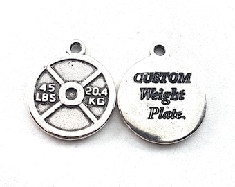 Custom Weight Plated 45lbs Motivational Weight,JoyasBodybuilding,Fitness Jewelry,Gym,CrossFit Gift,Weightlifting,Coach Gift,Personal Trainer