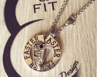 Necklace Runner Motivation Workout, Runner and Motivation Circle,Kettlebell,Fitness,Weight Plate,Workout,Barbell Dumbbell,marathon,Fitmom