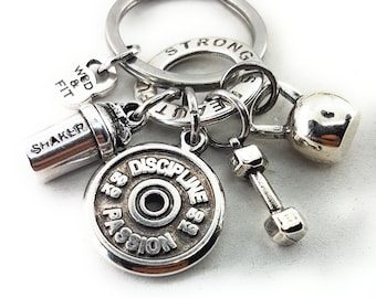 Keychain Beast Mode 24 Workout Kettlebell,Shaker,Dumbbell,Gym,Fitness Jewelry,Bodybuilding,Gym Gifts,beauty and beast,Fitness Jewelry,Sport