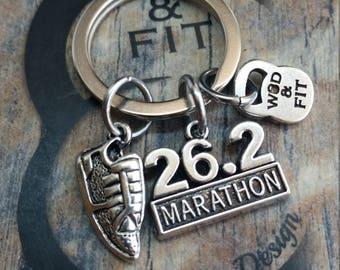 Runner Keychain Workout,Motivation.Wod,Motivational Gift,Runner gift,Running Jewelry,Marathon,Love Runner,Born To Runner,Love to Run,Coach