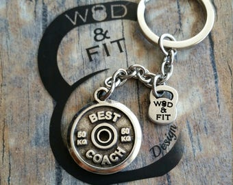 Keychain Randy Workout Motivation Weigth Plate.Bodybuilding Fit Mom,I Can I Will, Best Coach,No More Excuses,Never Give Up,Discipline Crossf