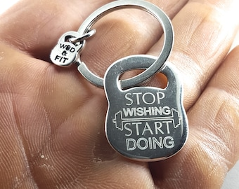 Custom Kettlebell Keychain with your Motivational Words,Bodybuilding jewelry,Gym Gift,Motivational Gift,Crossfit Gift,Custom Keychain,Sport