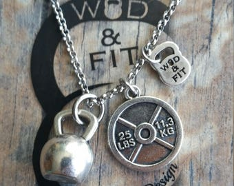 Kettlebell Necklace Motivation Tommy Fitness Workout.Gym,Bodybuilding,Barbell,Coach gift,Strong is Beautiful,Workout gift,Exercise Fitmom
