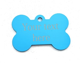 Aluminum Bone 38x25mm with your personal Message/Draw/Logo.Engraved NO LASER,Regalo Coach,Identification,Dog,Cat,Bagage,Bone Tags,Bone Dog