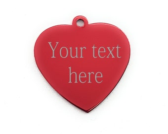 Custom Heart Gift Message Gift - Love Gift - Custom Message - Music Text - Custom Tag - love gift - personalized tag - Name tag Wod and Fit