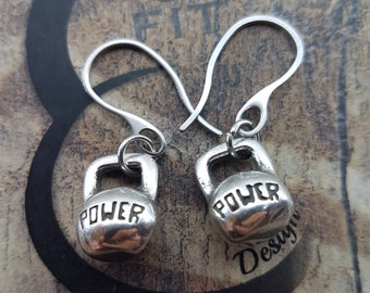 Fitness Earrings Women Exercises gift - Gym gift - gift ideas for women - fitness motivation - fitness jewellery - fitness mom - sport gifts
