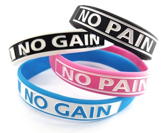 Silicon Bracelet Wristband No Pain No Gain.Coach Gift - Bodybuilding -Fitness -Motivation Gym - Gym Gift - Silicon Wristband No Pian No Gain